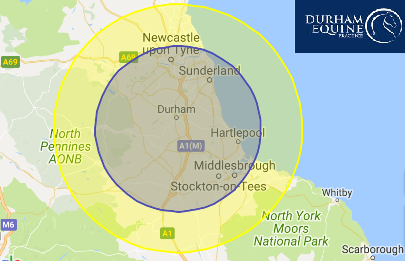 Durham Equine Areas Covered